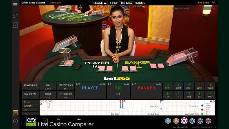 playtech golden speed baccarat