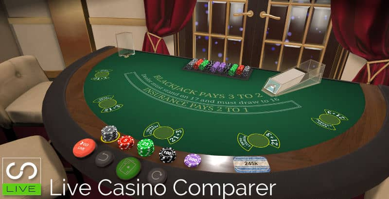 Evolution First Person RNG Games Blackjack table