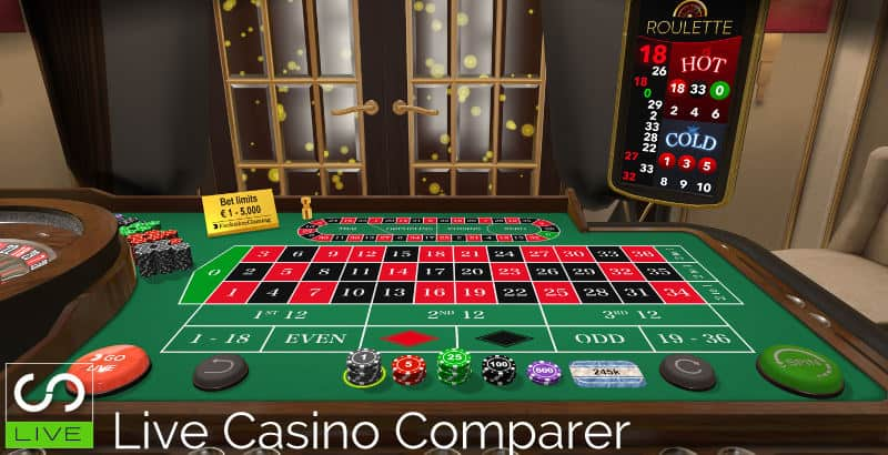 Evolution First Person RNG Games Roulette table