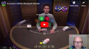 evo infinite blackjack video