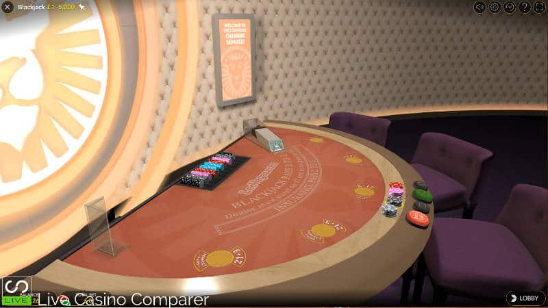 evolution First Person Blackjack at Leo Vegas