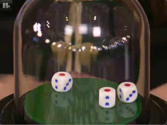 Playtech Live Sic Bo dice shaker