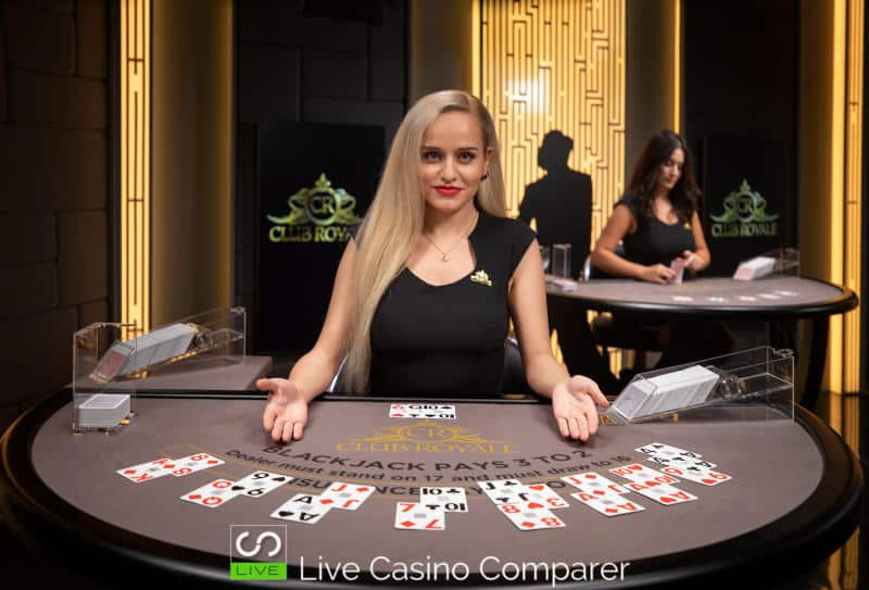 club royale live casino Blackjack table 1