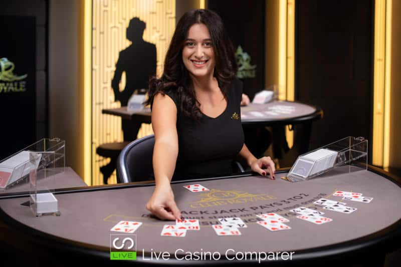 club royale live casino Blackjack table 2