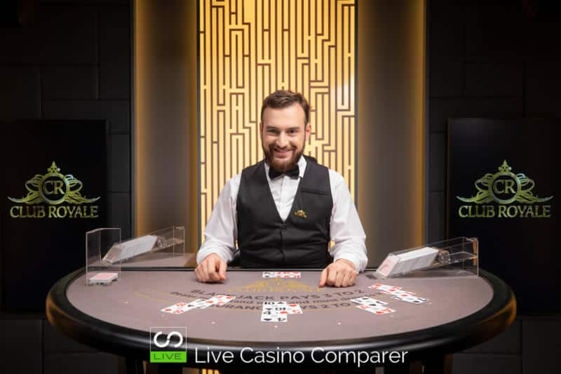 club royale live casino Blackjack table 3