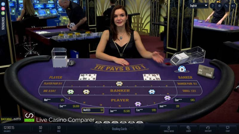 lucky streak live baccarat multi player mode