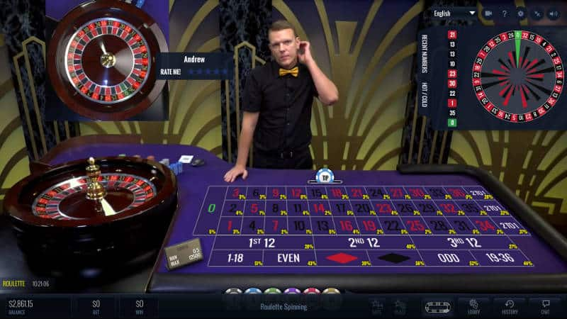 lucky streak live roulette classic view