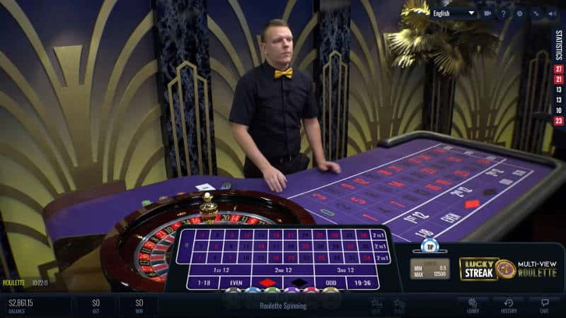 lucky streak live roulette multi camera view