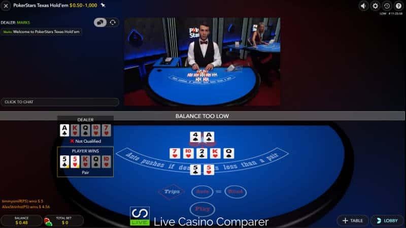 pokerstars ultimate texas hold'em