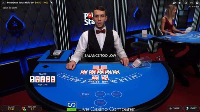 pokerstars ultimate texas hold'em full screen