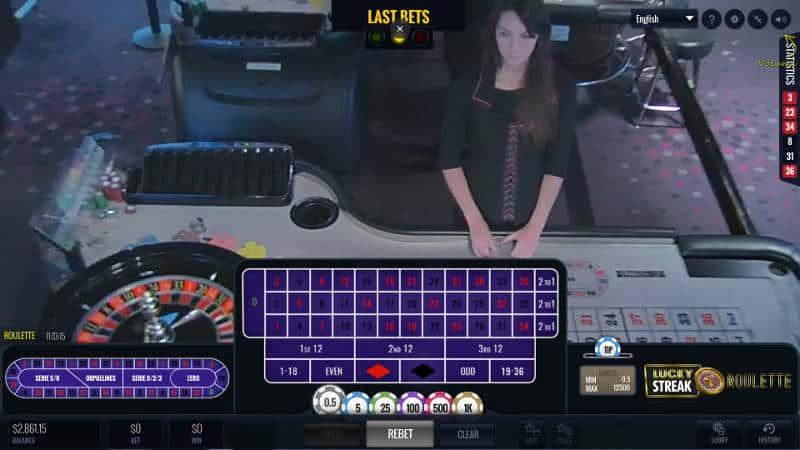 lucky streak portomaso live roulette