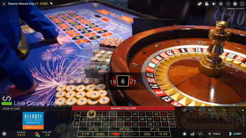 Atlantic City Resorts Roulette result