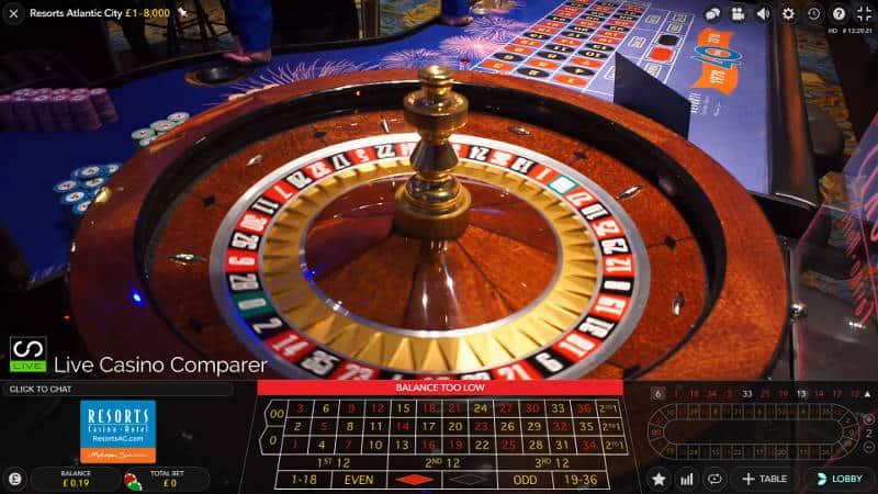 Atlantic City Resorts Roulette wheel closeup