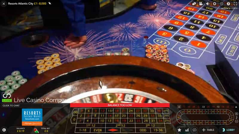 Atlantic City Resorts Roulette wheel