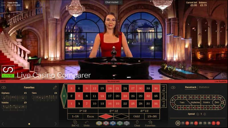 NetEnt Live Casino Studio Cher in action on Live Roulette