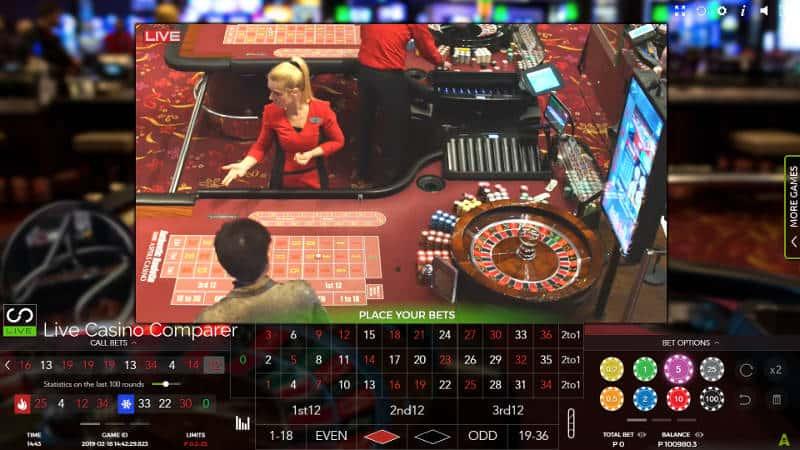 aspers live dealer roulette