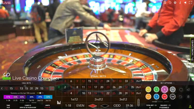 aspers live roulette