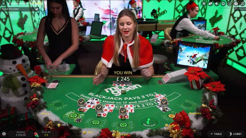 Blackjack Straight Flush at Mr Green