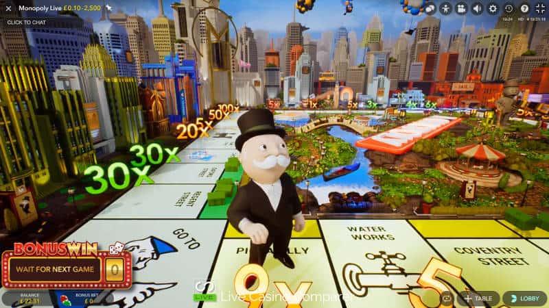 end of monopoly live bonus round