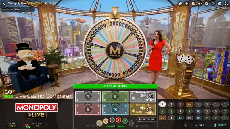 monopoly live dream catcher edition