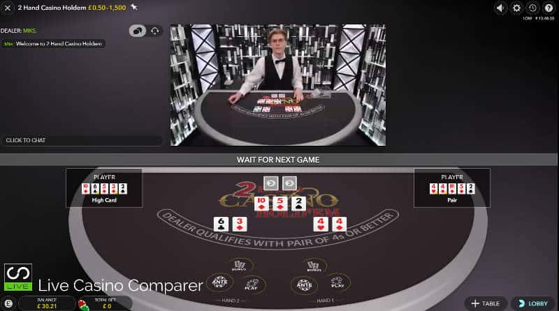 2 hand casino holdem mixed mode