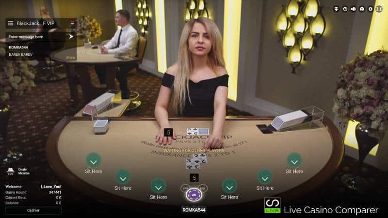 native blackjack table