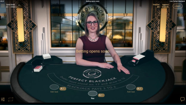 netent perfect blackjack dealer