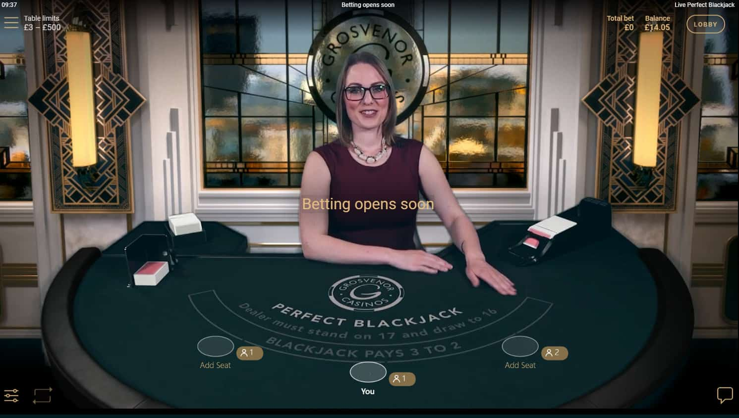 netent perfect blackjack dealer