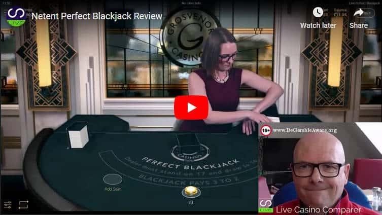 netent perfect blackjack video