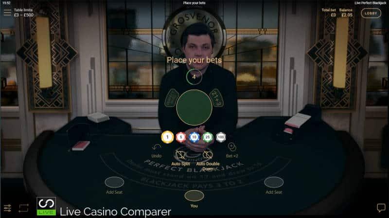 perfect blackjack betting