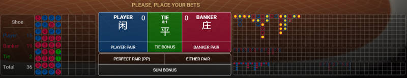 betconstruct baccarat betting