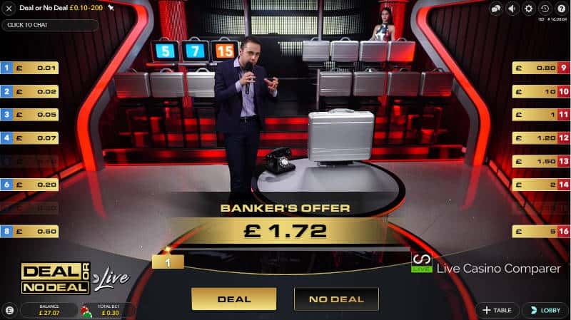 deal or no deal live game round