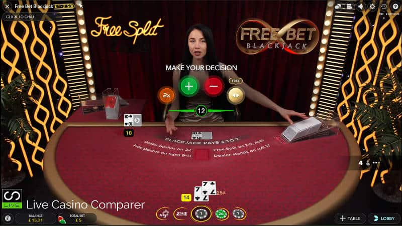 evolution free bet blackjack