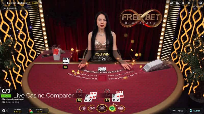 winning at freebet blackjack