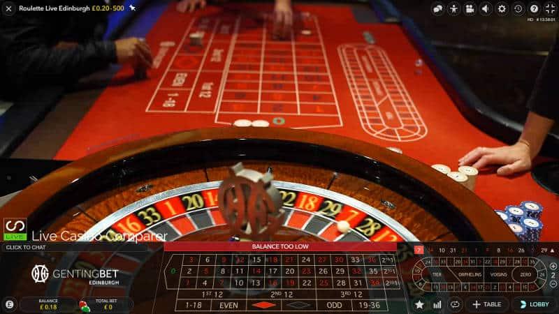 live edinburgh roulette