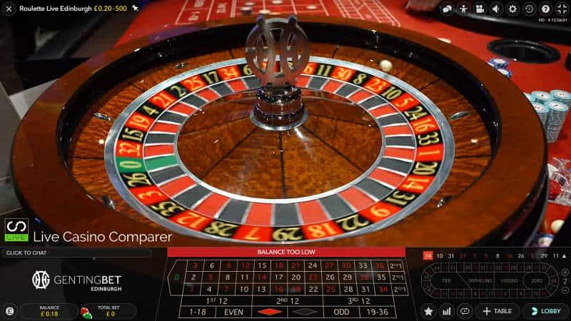 genting edinburgh roulette