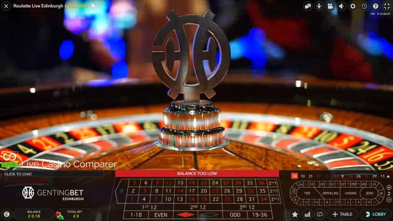 genting live edinburgh roulette