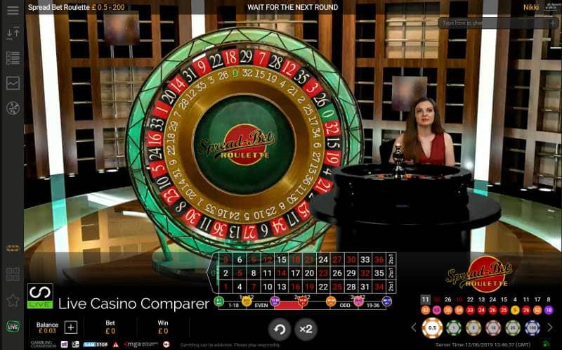 Dealer running Spread Bet Roulette