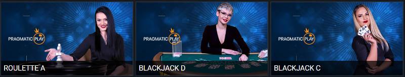 Blackjack & Roulette lobby images