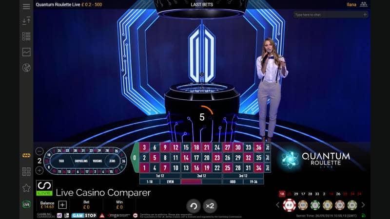 dealer introducing quantum roulette