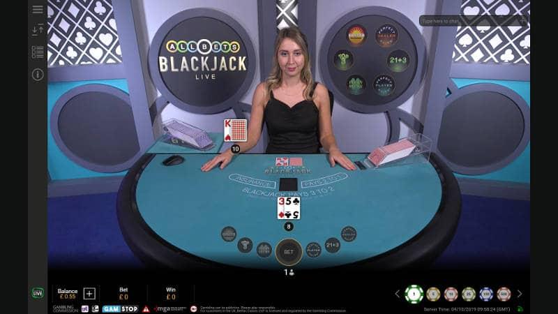 allbets blackjack live dealer