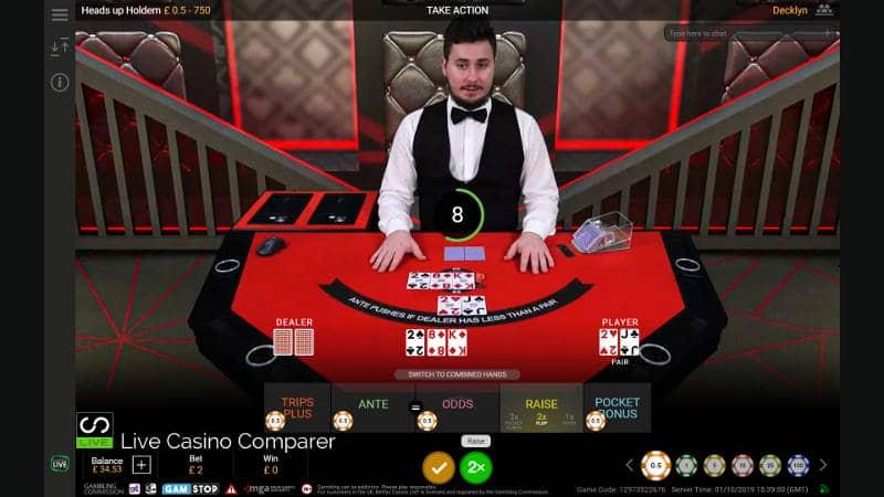 Flop betting round