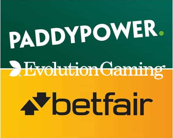 evolution land betfair & Paddy Power