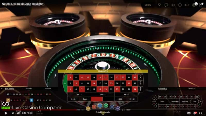 new playing interface netent live auto roulette