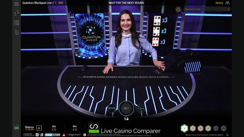 quantum Blackjack table