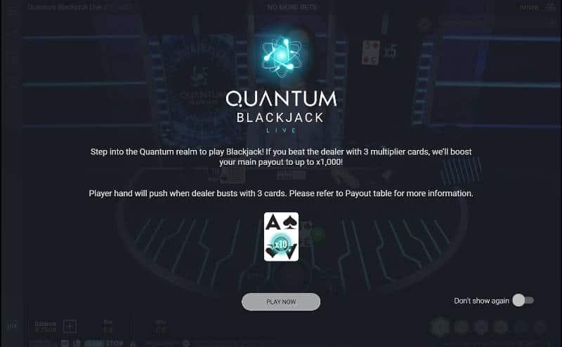 quantum blackjack rules
