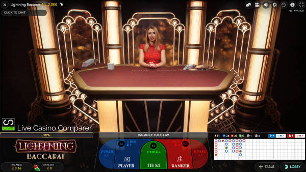 evolution launches live lightning baccarat
