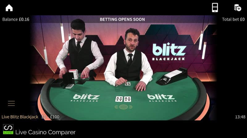 Mobile Blitz Blackjack