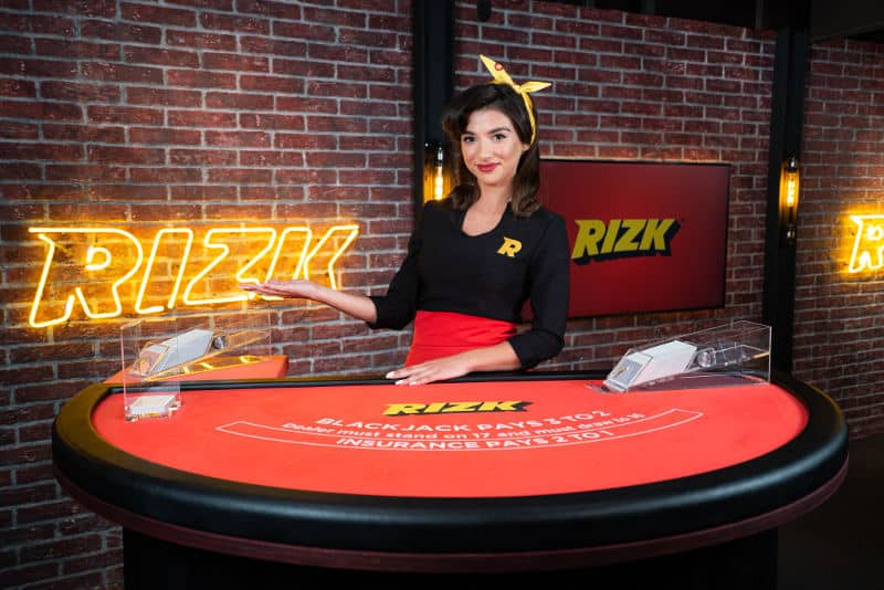 rizk live casino dedicated Blackjack table