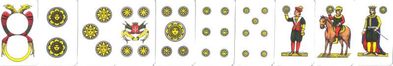 sette e mezzo coins cards